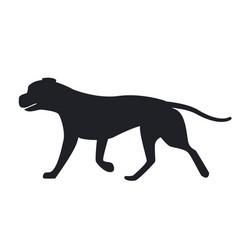 Dog black silhouette profile view icon vector