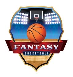 Fantasy basketball badge vector