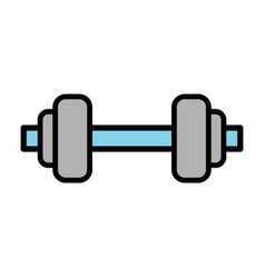 blue metal barbel cartoon vector image