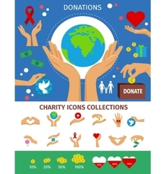 Charity Flat Isolated Concept vector image vector image