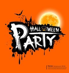 Happy Halloween party text design vector image vector image