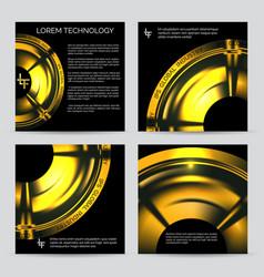industrial engineering booklet template vector image vector image