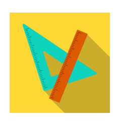 ruler and triangle devices for school drawing vector image