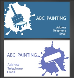 Template cards for painting vector image vector image