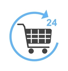 24 Hour Shopping vector