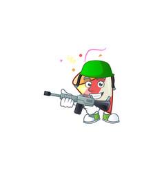A cartoon style exploding confetti army vector