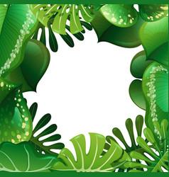 a green nature leaf border vector image