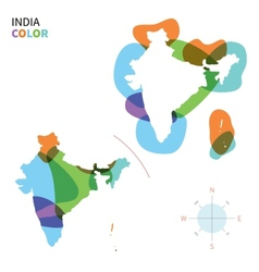 Abstract color map of India vector