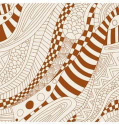 Abstract zentangle doodle waves seamless pattern vector image