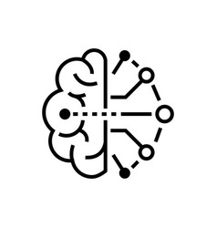 Artificial intelligence - line design single vector