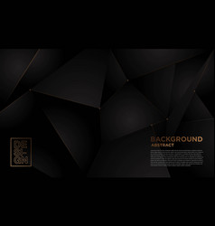 black gold abstract background 4 vector image