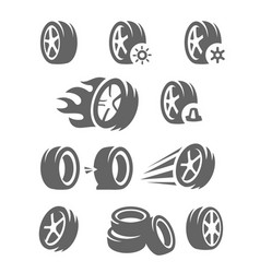 Black tire vector