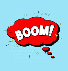boom sound comic pop art style expression vector image