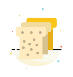 Bread food education abstract flat color icon vector
