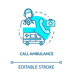 Call ambulance medical assistance concept icon vector