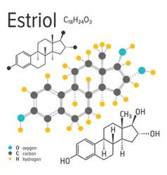 Chemical formula estriol molecule vector