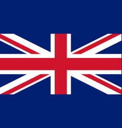colored flag of great britain vector image