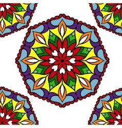 Colorful circle flower mandalas vector