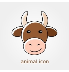 Cow icon Farm animal vector image
