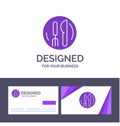 Creative business card and logo template hotel vector