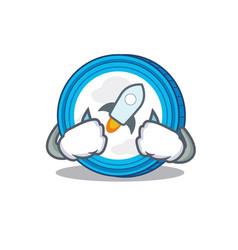 Crying stellar coin character cartoon vector