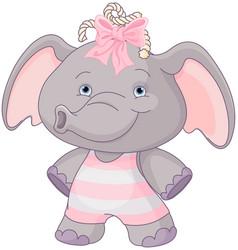 Cute baelephant vector