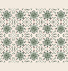 decorative seamless tiles in green tones vector image