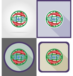 delivery flat icons 15 vector image