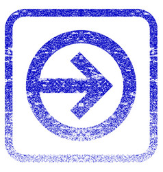 Direction right framed textured icon vector