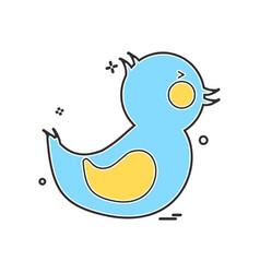 duck icon design vector image
