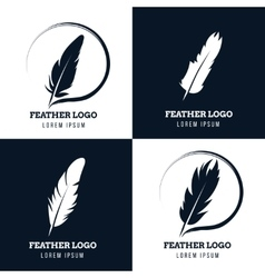 Feather elegant pen law firm lawyer writer vector