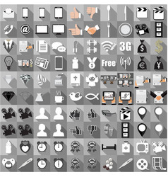 flat icon collection business economic financial vector image