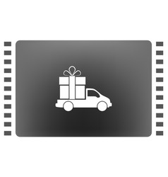 flat paper cut style icon of vehicle vector image