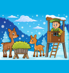 Forester winter theme 2 vector