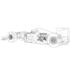 Formula 1 abstract drawing wire-frame eps10 vector