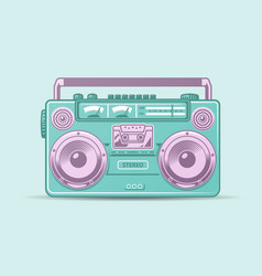 funky colorful boom box vector image