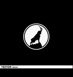 goat mountain logo vector image