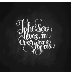 Graphic ocean quote vector image