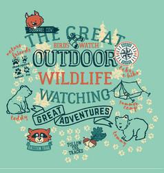 great outdoor wildlife watching vector image