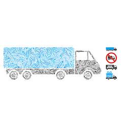 hatch cargo wagon icon collage vector image