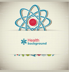 Healthcare paper background vector