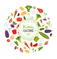 healthy eating and vegetables background vector image