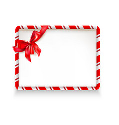 Holiday stripe frame vector