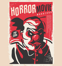 horror design made for movie event vector image