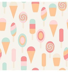 Ice cream seamless vintage pattern vector image