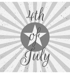 Independence Day 4th of July flat Label vector