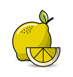 Lemon fruit icon stock vector
