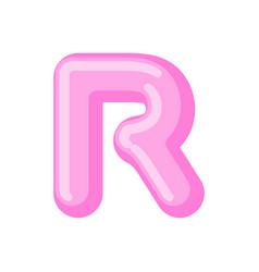 Letter r candy font caramel alphabet lollipop vector