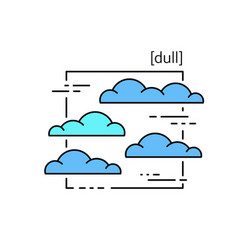 Line icons with symbol weather isolated clouds vector