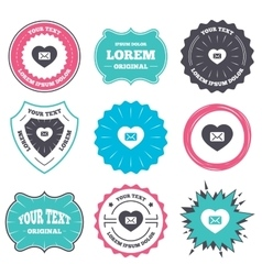 Love Mail icon Envelope symbol Message sign vector